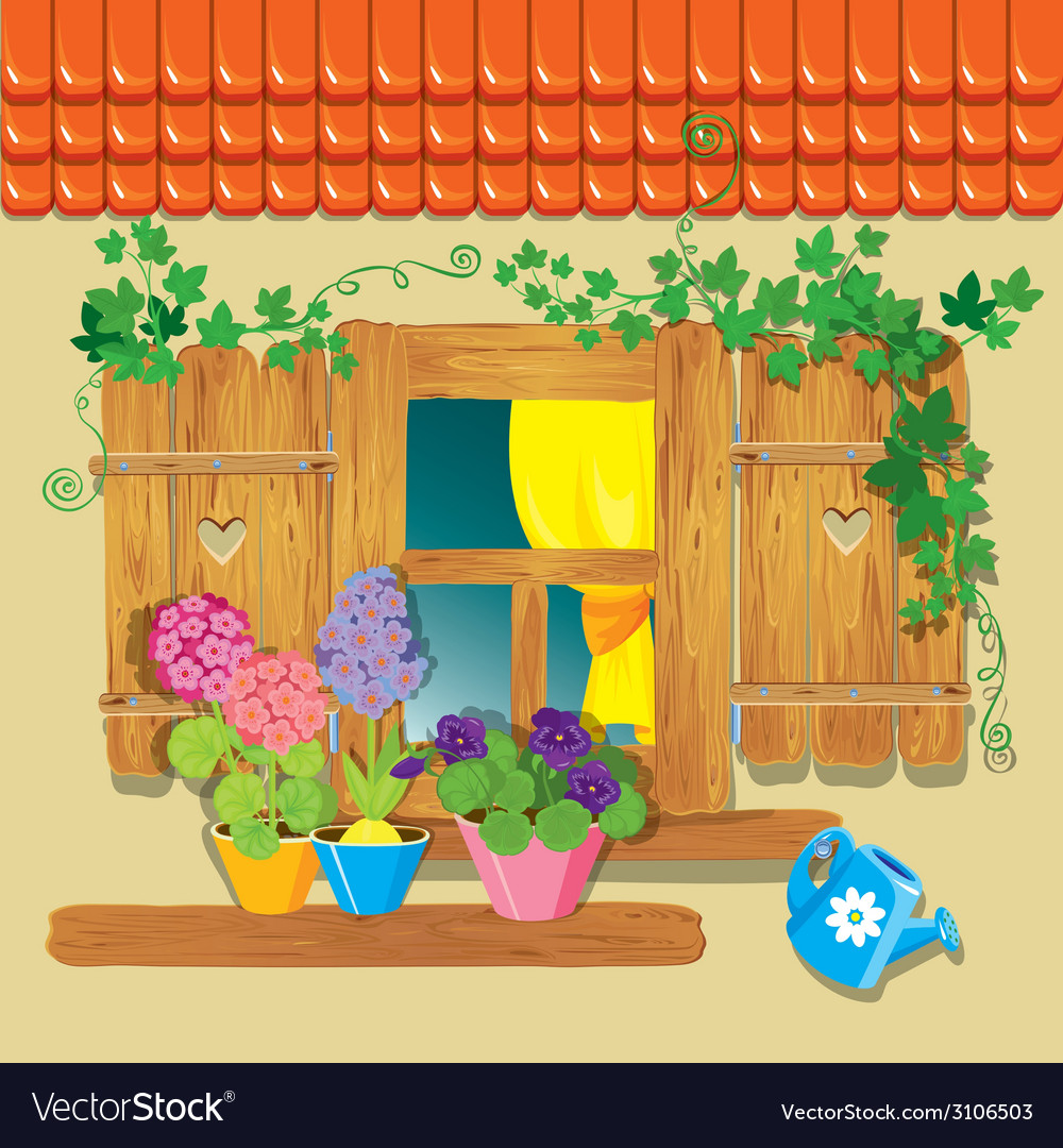 Window summer 380 vector | Price: 1 Credit (USD $1)