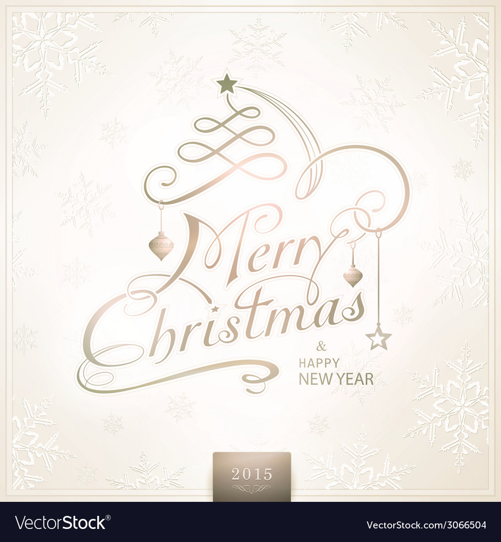1410001 merry christmas typography handwriting vector | Price: 1 Credit (USD $1)