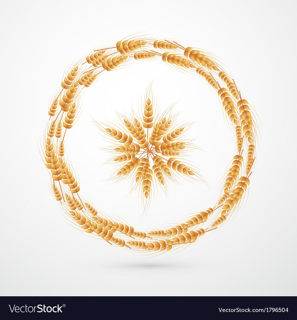 Abstract ears of wheat background vector | Price: 1 Credit (USD $1)