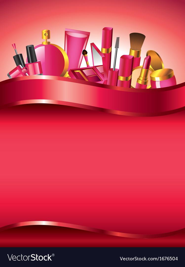Cosmetics vertical background vector   Price: 1 Credit (USD $1)