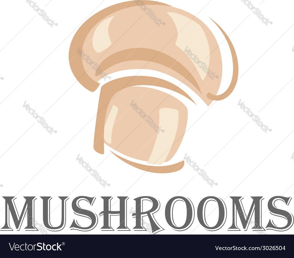 Fresh forest mushroom symbol vector   Price: 1 Credit (USD $1)