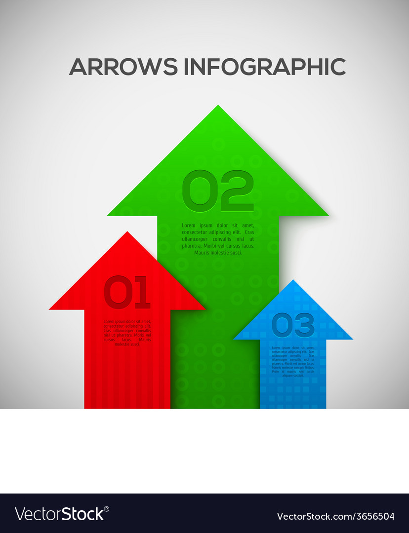 Infographic with 3d arrows vector | Price: 1 Credit (USD $1)