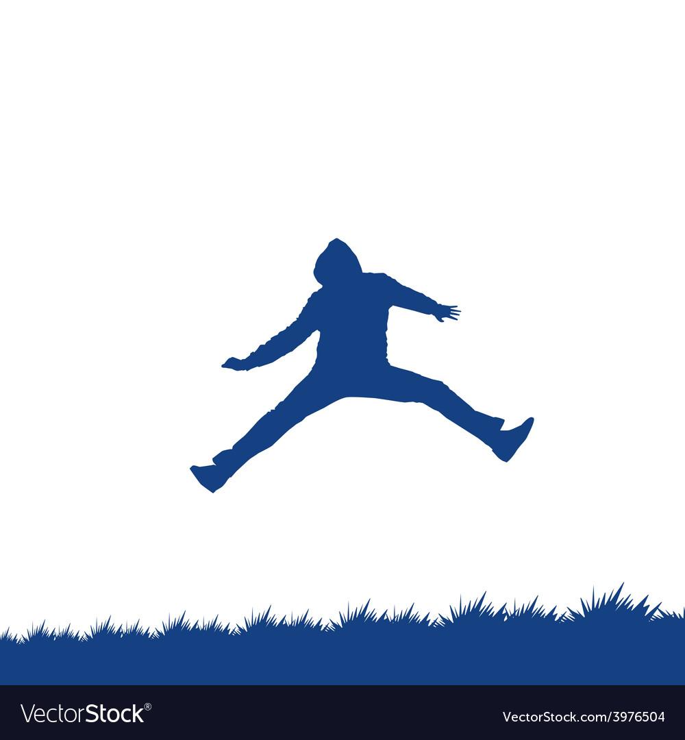 Man jumping vector   Price: 1 Credit (USD $1)