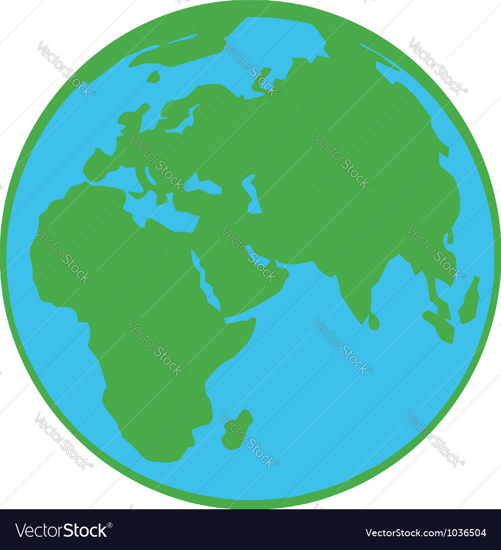 Planet earth cartoon character vector | Price: 1 Credit (USD $1)