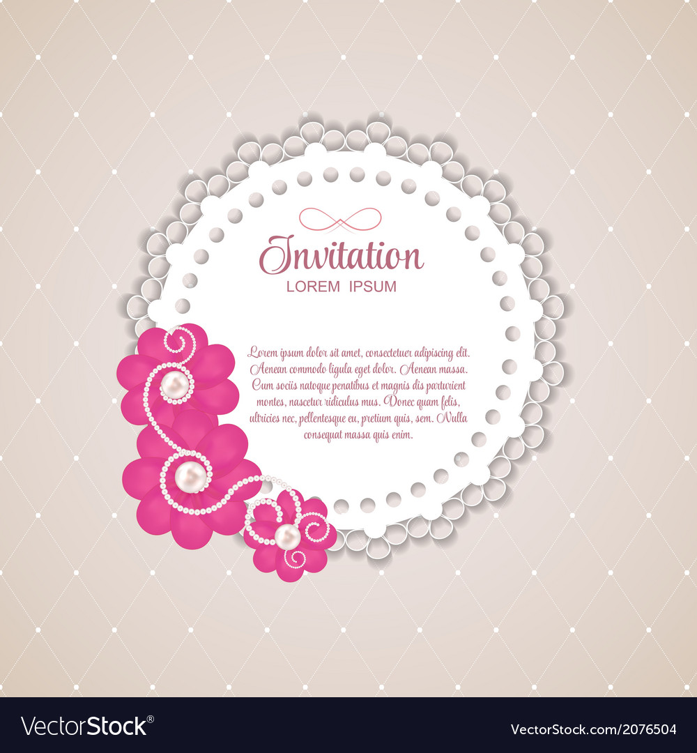 Romantic flower vintage invitation card background vector   Price: 1 Credit (USD $1)
