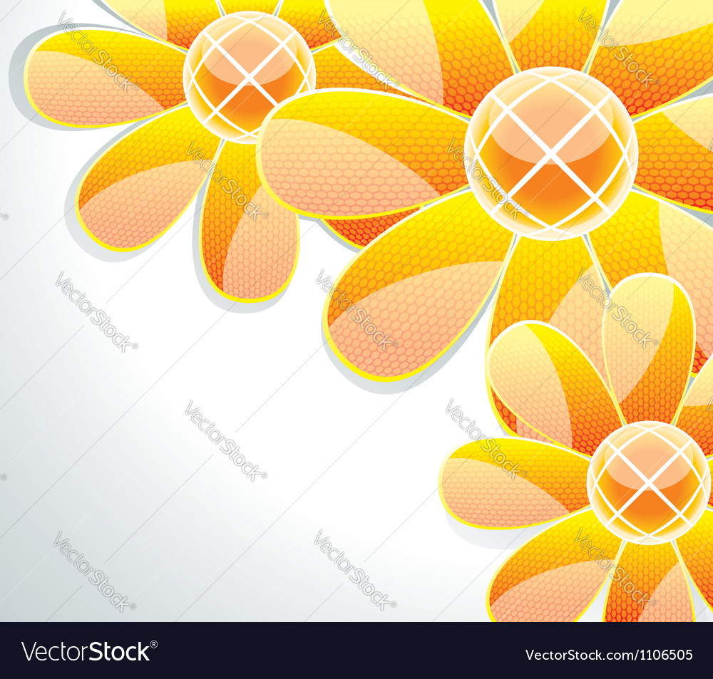 3d glass flowers vector | Price: 1 Credit (USD $1)