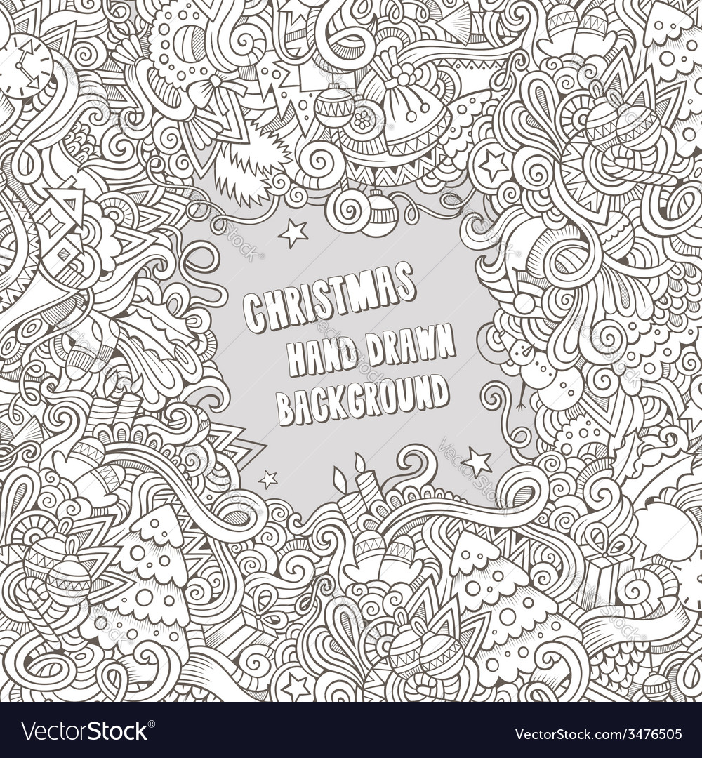 Cartoon new year and christmas backgrond vector | Price: 1 Credit (USD $1)