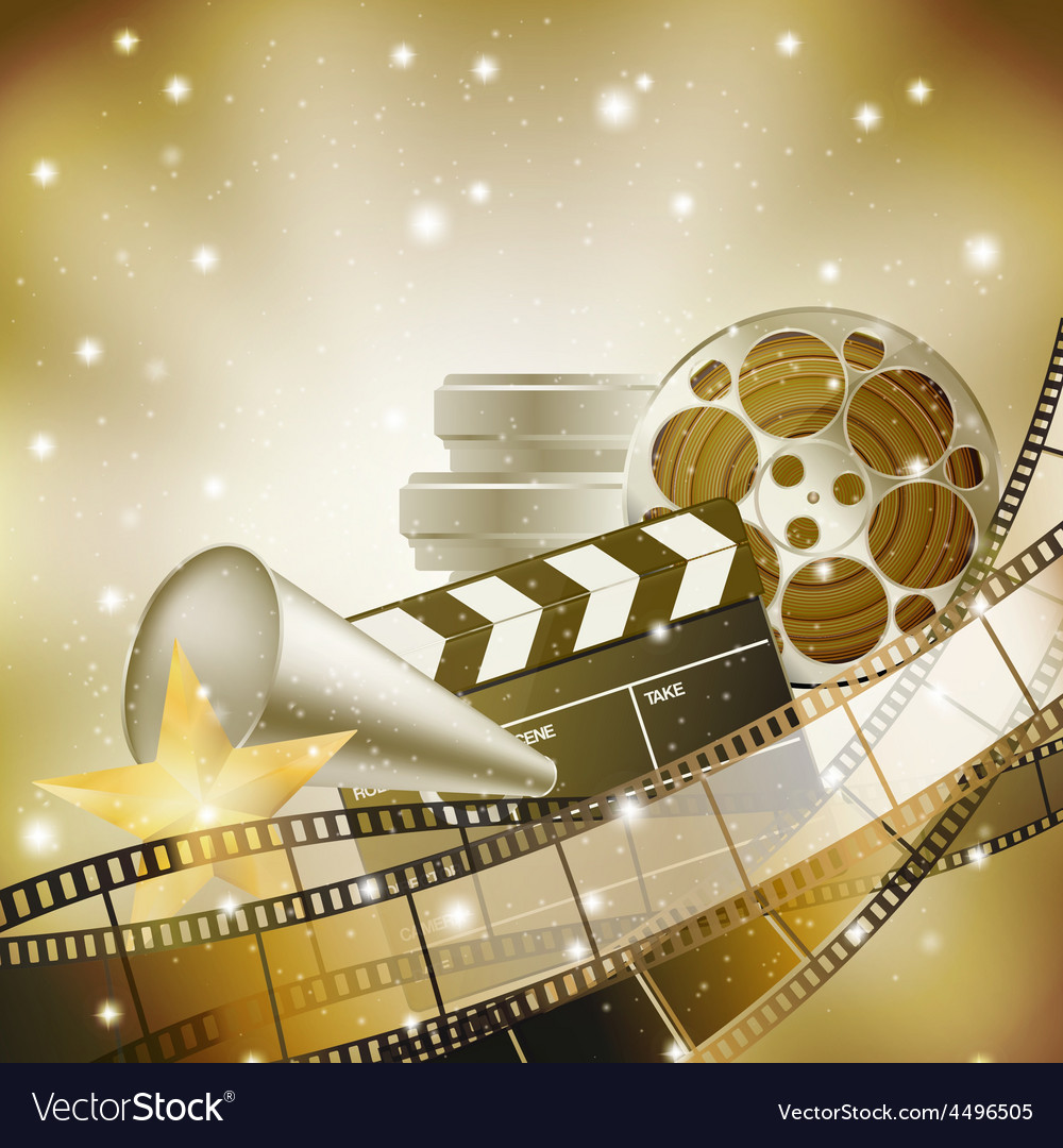 Cinema film background vector | Price: 3 Credit (USD $3)