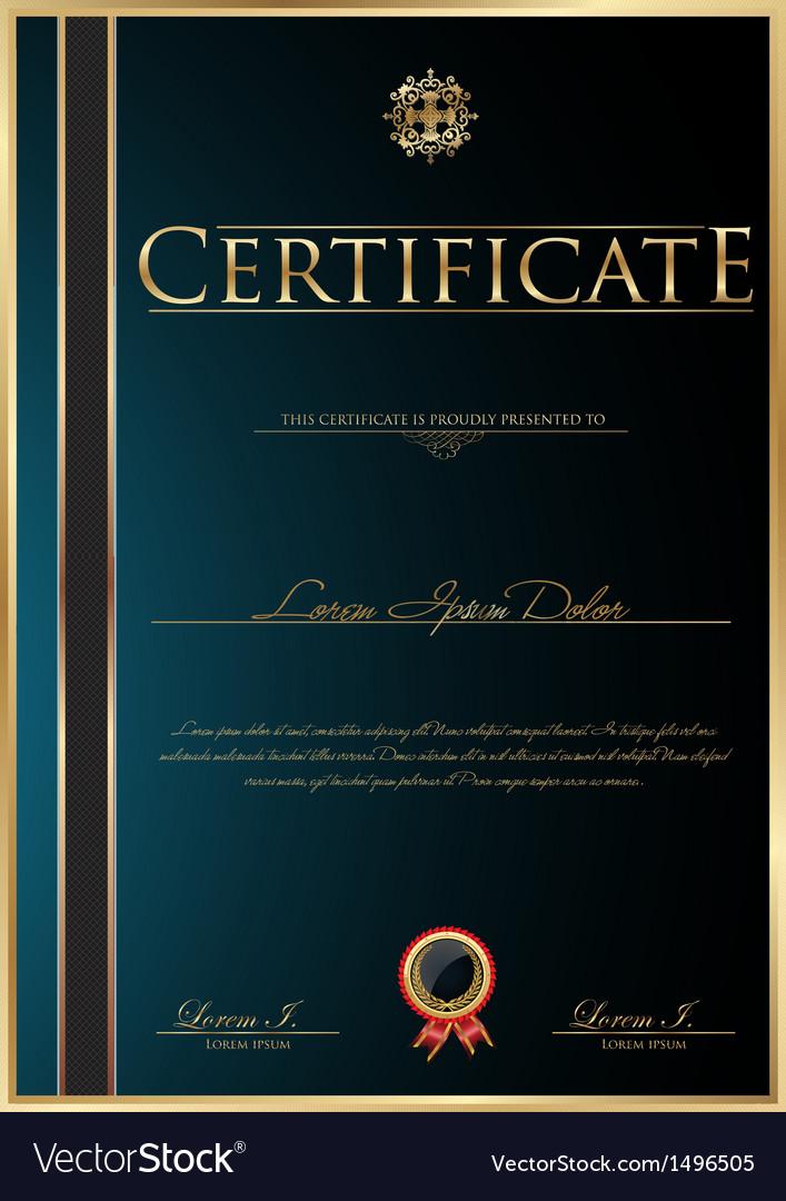 Elegant certificate template vector | Price: 1 Credit (USD $1)