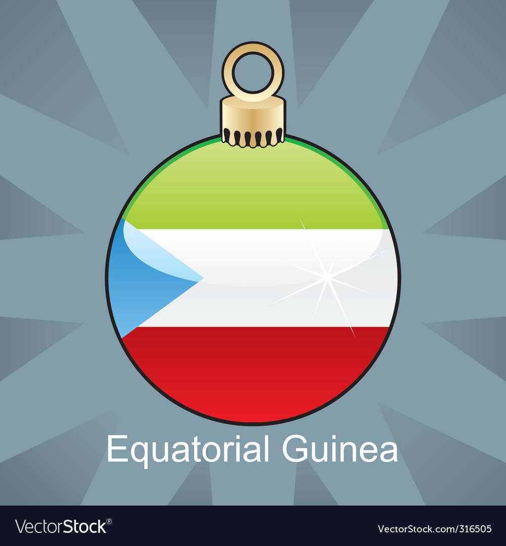 Equatorial guinea flag on bulb vector | Price: 1 Credit (USD $1)