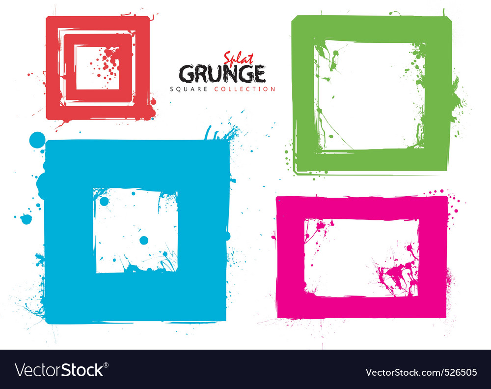 Grunge square collection ink vector | Price: 1 Credit (USD $1)