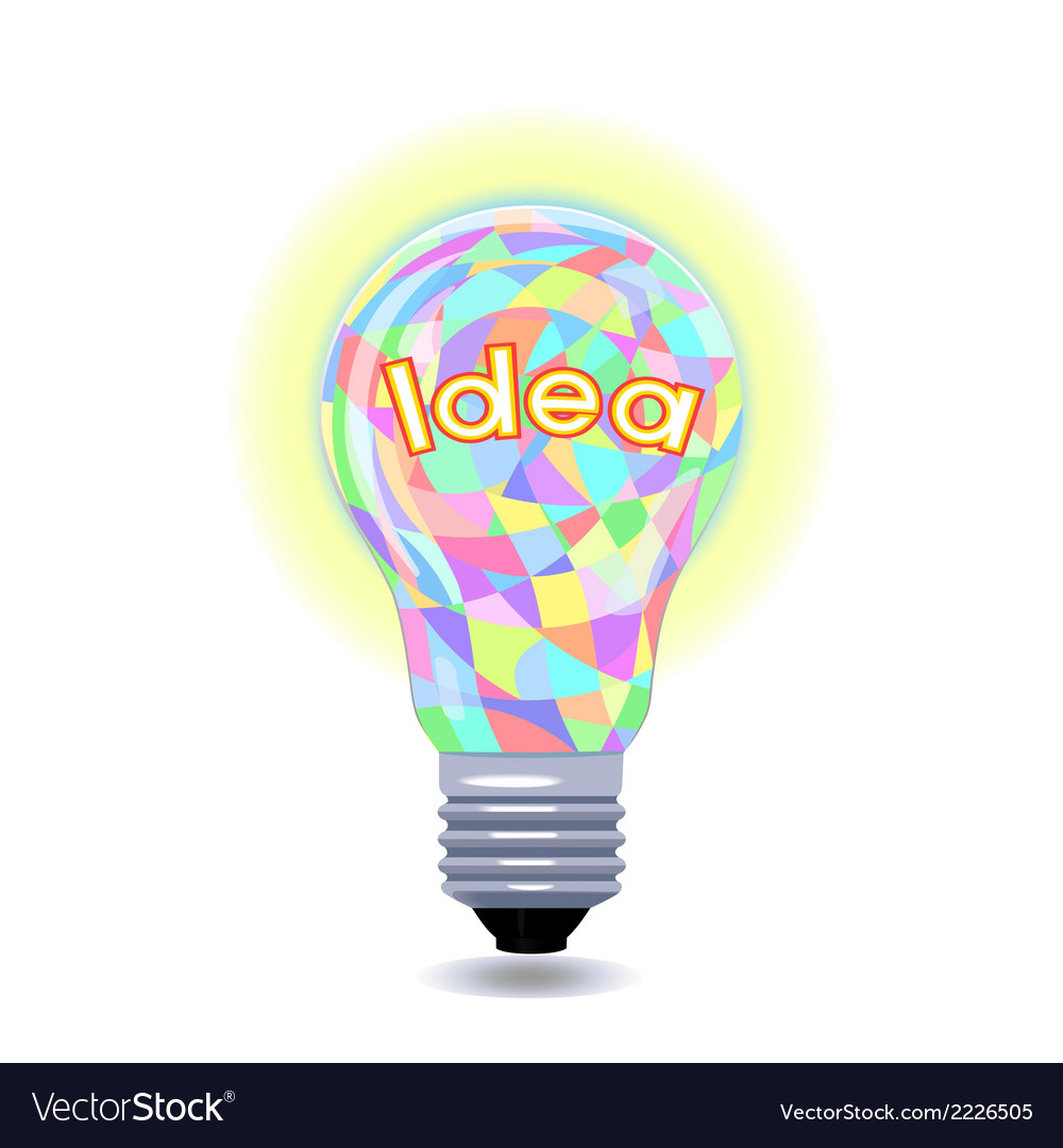 Idea as an lightbulb vector | Price: 1 Credit (USD $1)