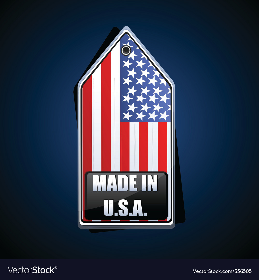 Made in usa tag vector | Price: 1 Credit (USD $1)
