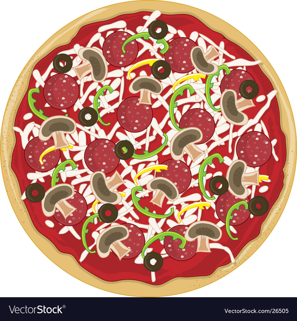 Pizza whole vector | Price: 1 Credit (USD $1)