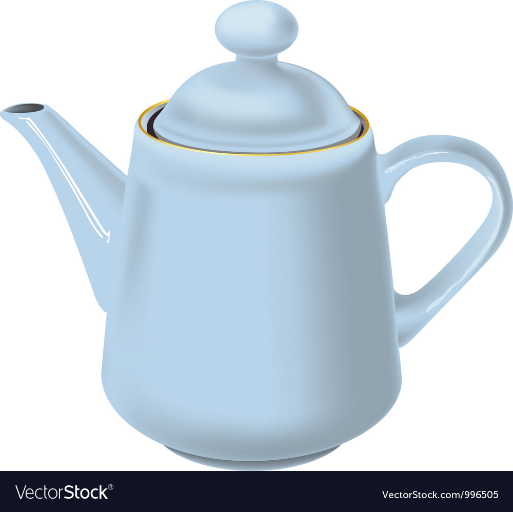 White teapot vector | Price: 1 Credit (USD $1)