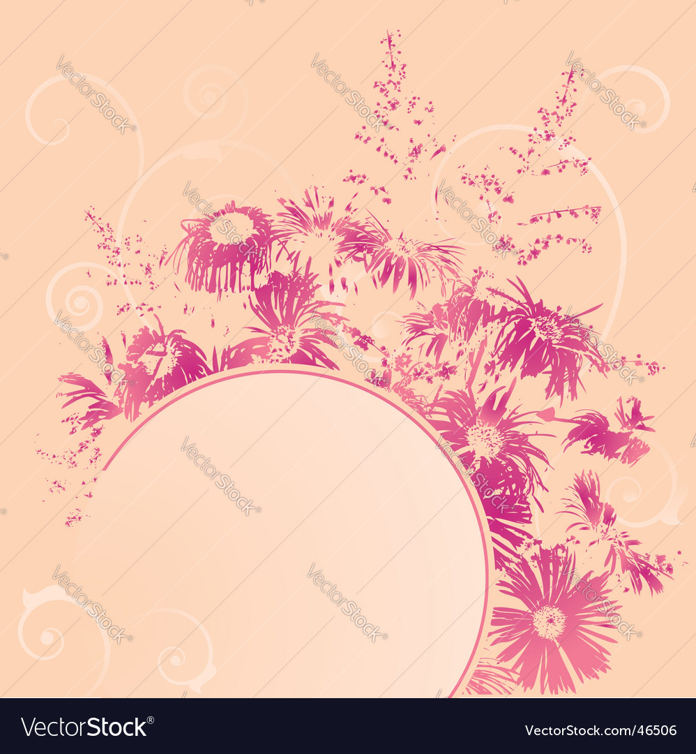 Banner with bush of flowers vector | Price: 1 Credit (USD $1)