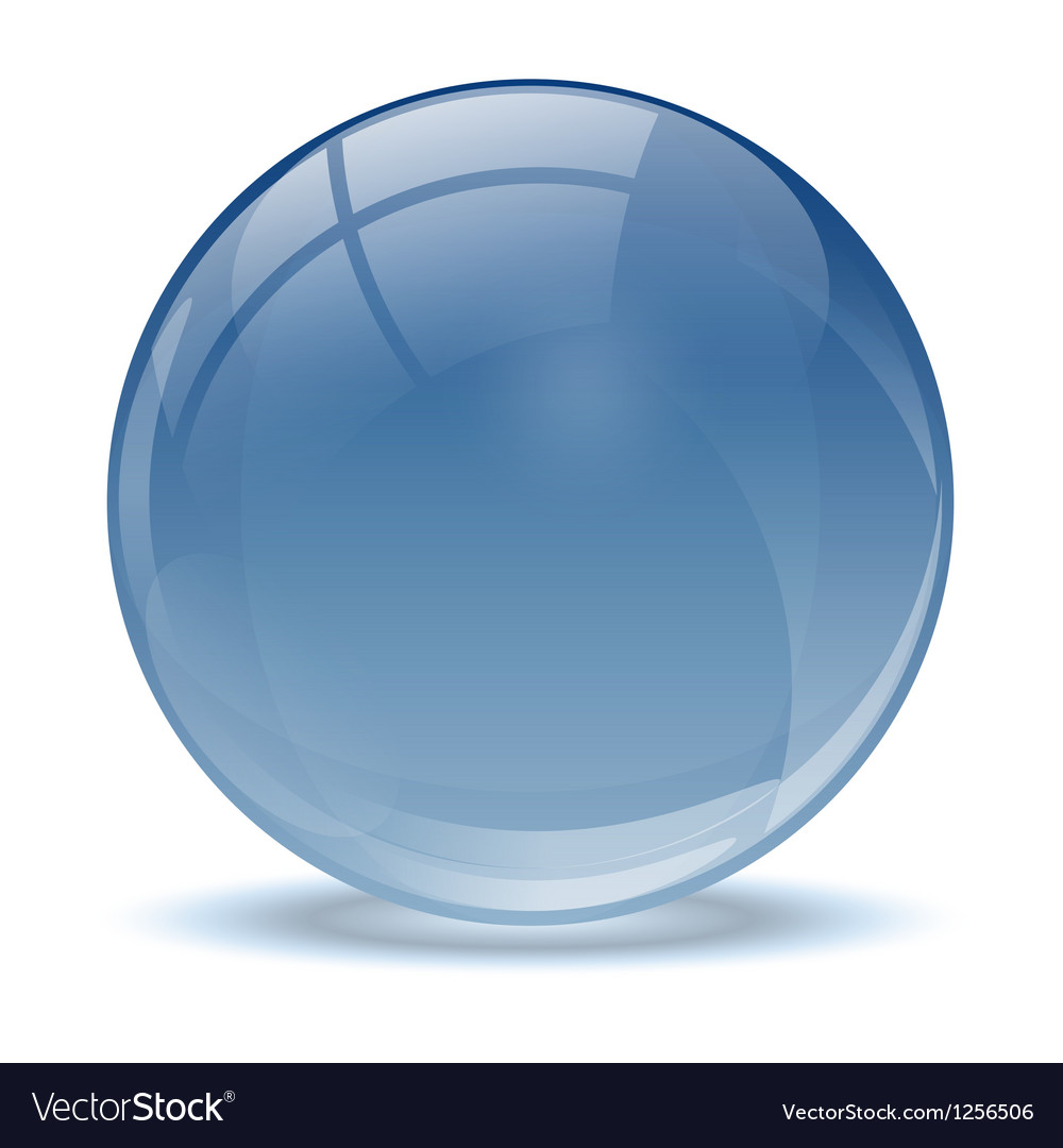 Blue abstract 3d icon ball vector | Price: 1 Credit (USD $1)
