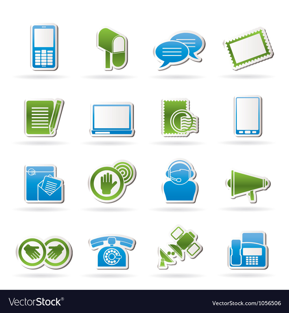 Contact and communication icons vector | Price: 1 Credit (USD $1)