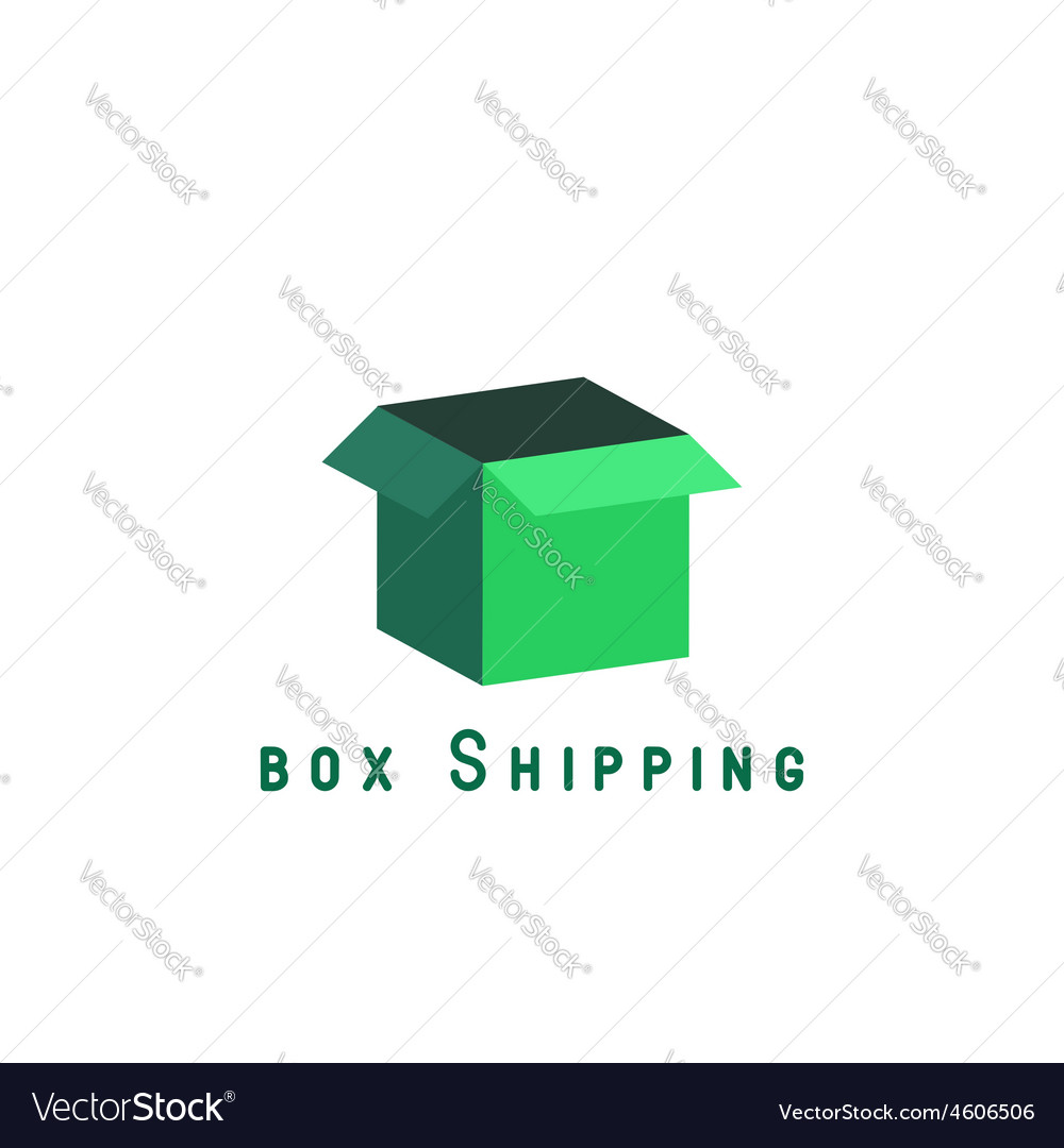 Free shipping delivery box block delivery agancy vector | Price: 1 Credit (USD $1)