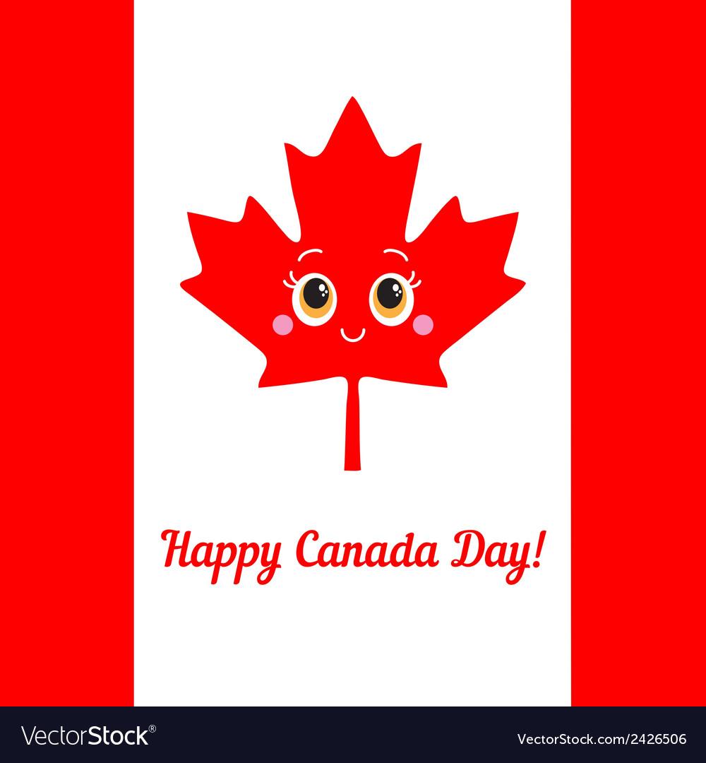 Happy canada day card vector | Price: 1 Credit (USD $1)
