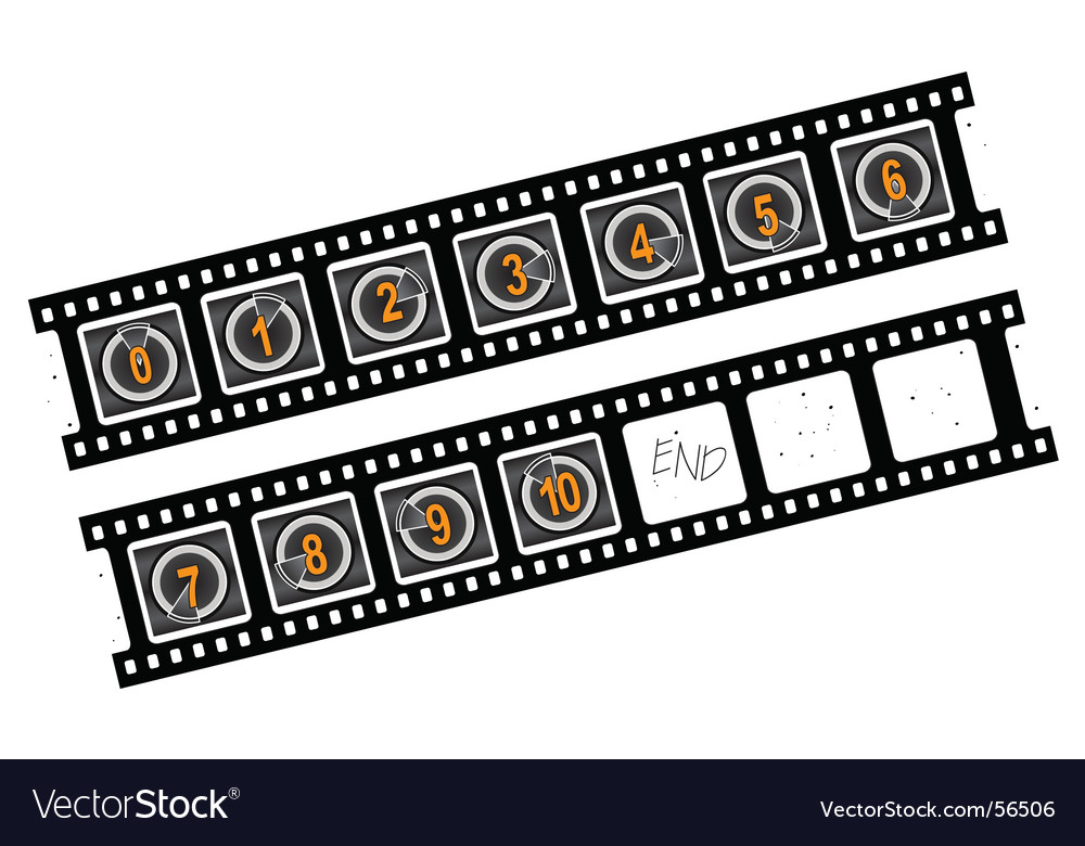 Movie countner numbers vector | Price: 1 Credit (USD $1)