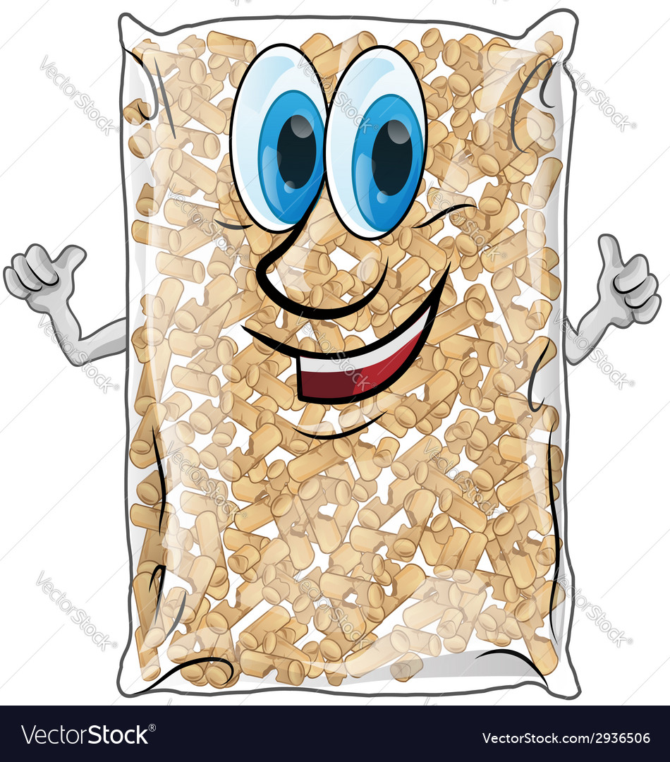 Pellet bag isolated vector | Price: 1 Credit (USD $1)