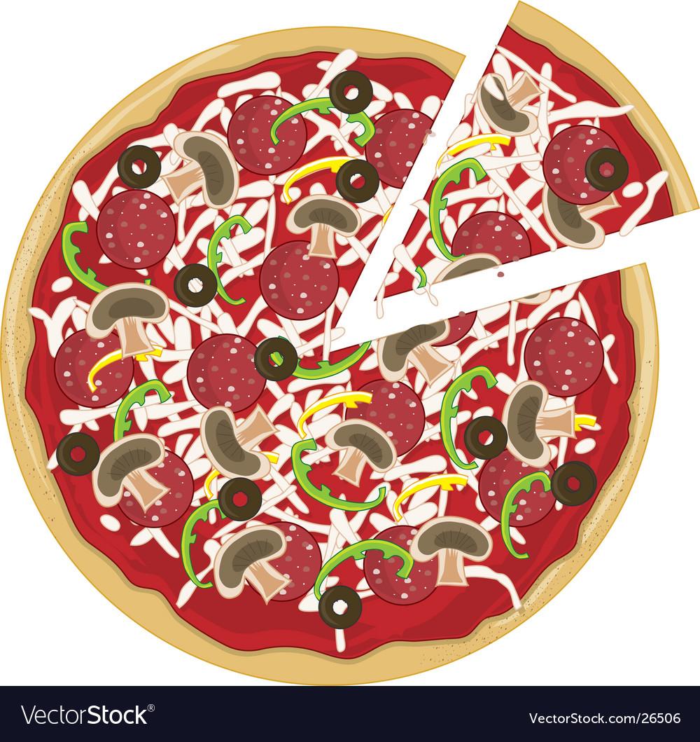 Pizza slice vector | Price: 1 Credit (USD $1)