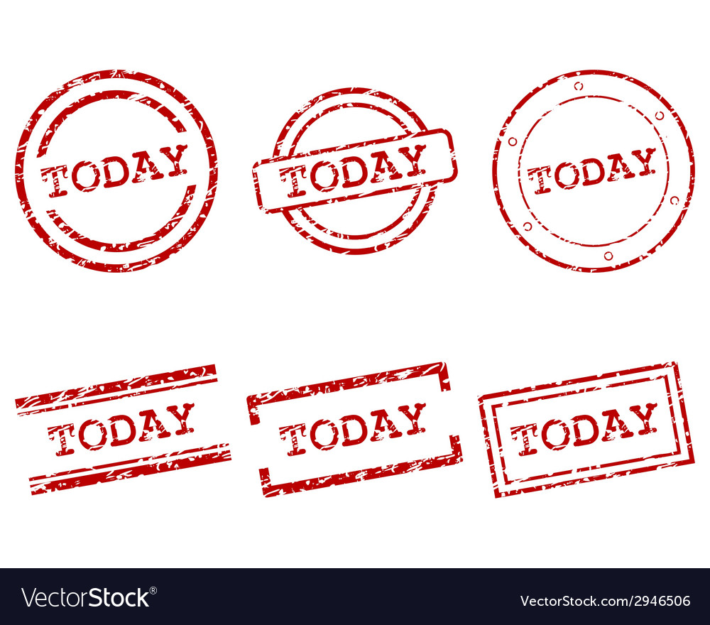 Today stamps vector | Price: 1 Credit (USD $1)