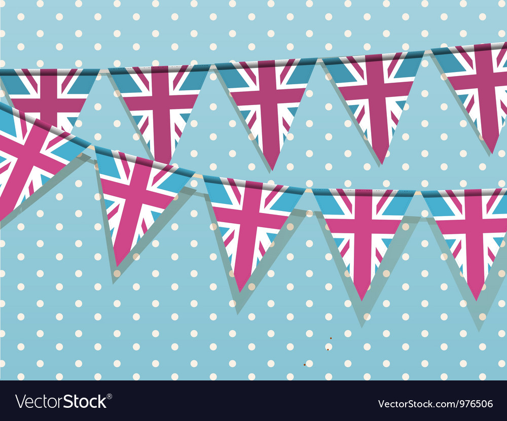 Union jack bunting vector | Price: 1 Credit (USD $1)
