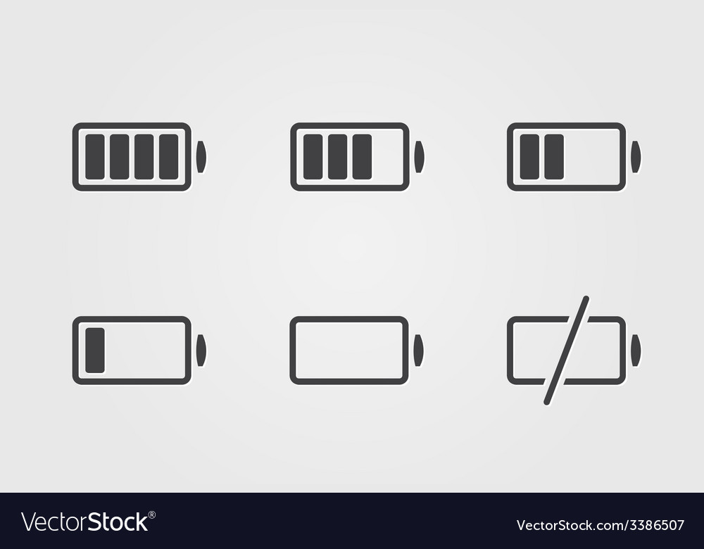 Black battery icon vector | Price: 1 Credit (USD $1)