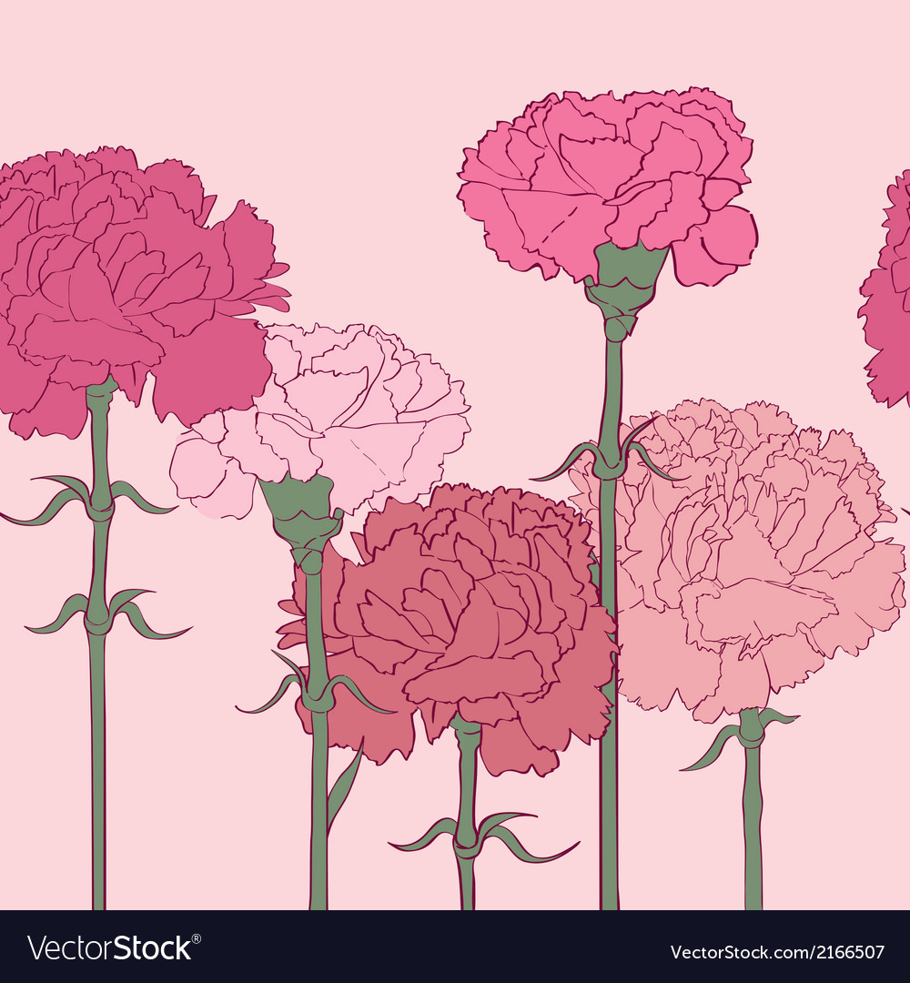 Carnations pattern vector | Price: 1 Credit (USD $1)