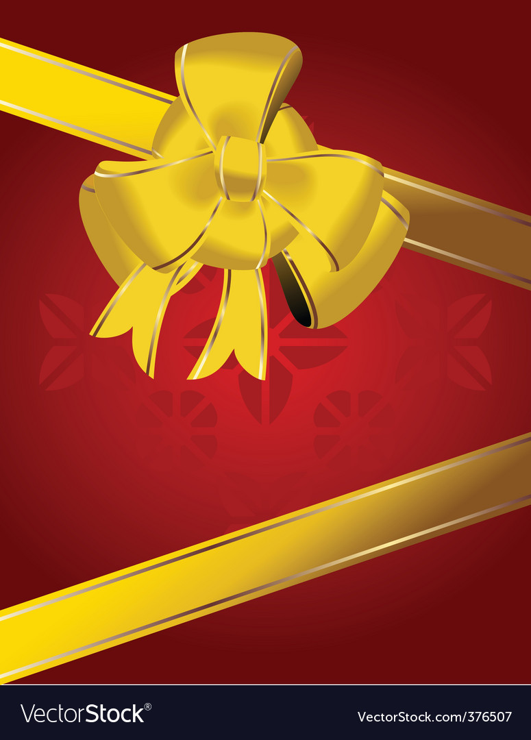 Christmas bow decoration vector | Price: 1 Credit (USD $1)