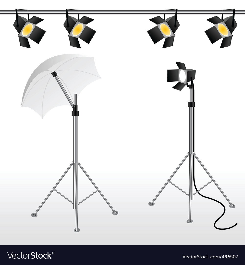 Film studio scene vector | Price: 1 Credit (USD $1)