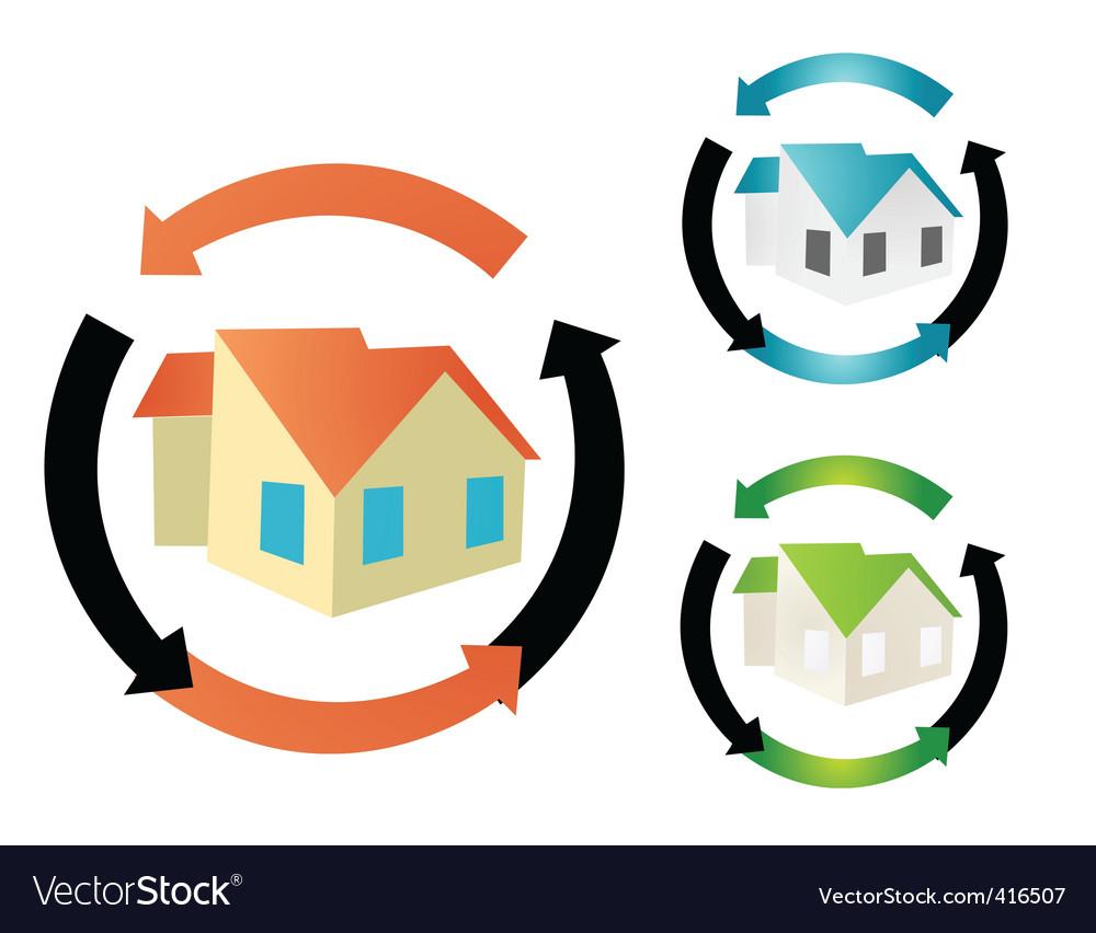 House symbols vector | Price: 1 Credit (USD $1)