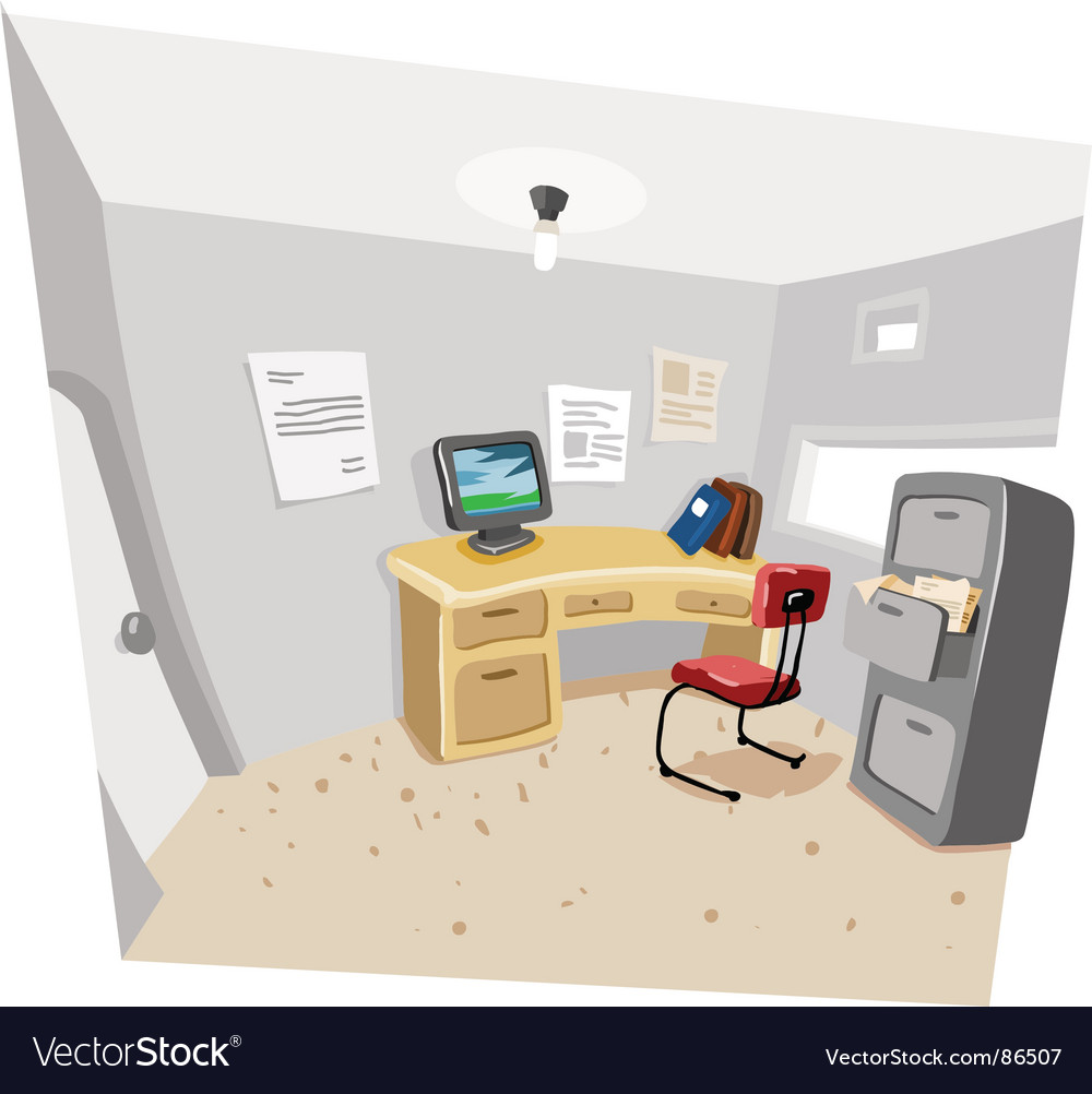 Private work room vector | Price: 1 Credit (USD $1)