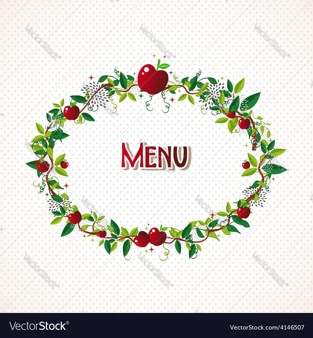 Red apple wreath vector | Price: 1 Credit (USD $1)