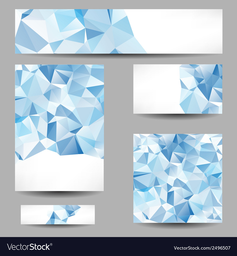 Templates with abstract geometrical triangles vector | Price: 1 Credit (USD $1)