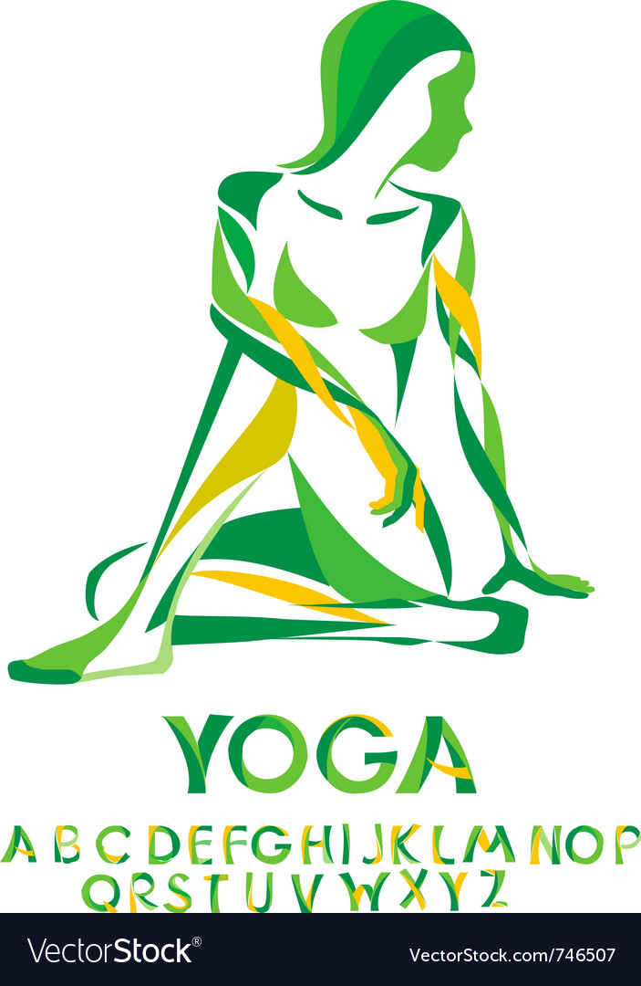 Yoga lord of the fishes pose vector | Price: 1 Credit (USD $1)
