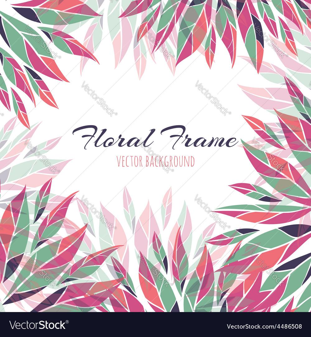 Floral frame background vector | Price: 1 Credit (USD $1)