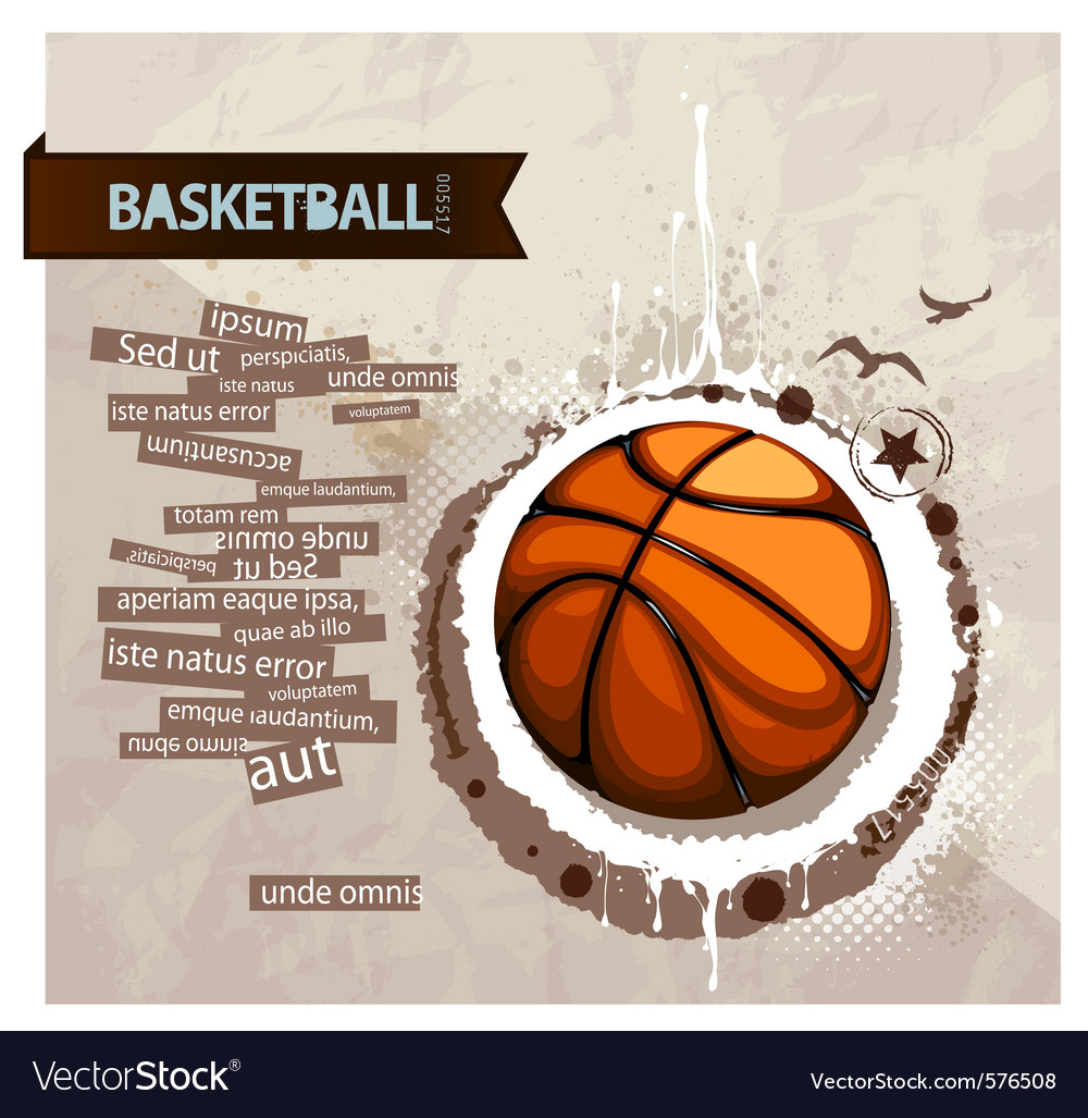 Grunge basketball vector | Price: 1 Credit (USD $1)