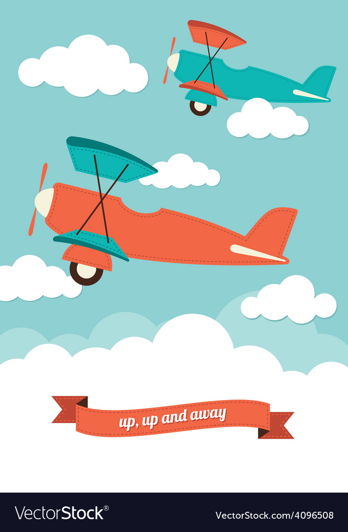 Planes in the clouds vector | Price: 1 Credit (USD $1)