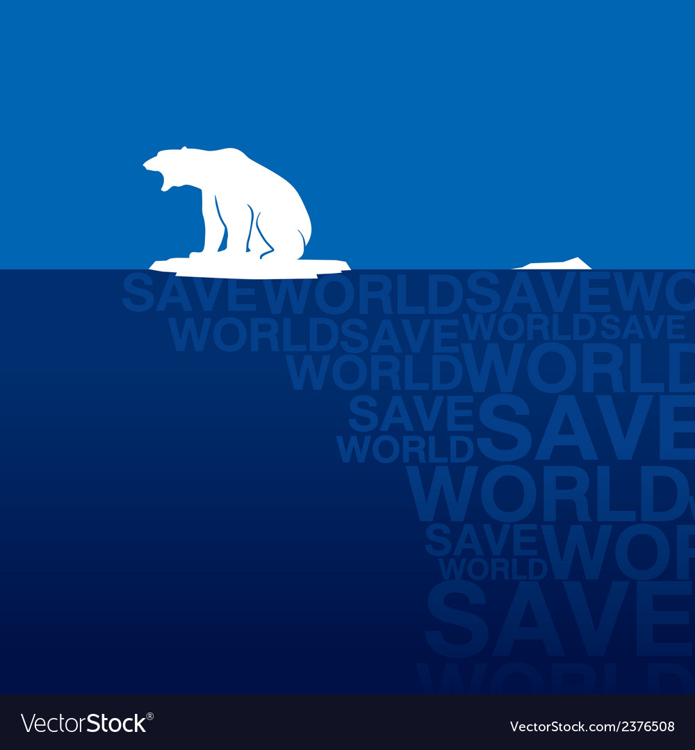 Polar bear 3 vector | Price: 1 Credit (USD $1)