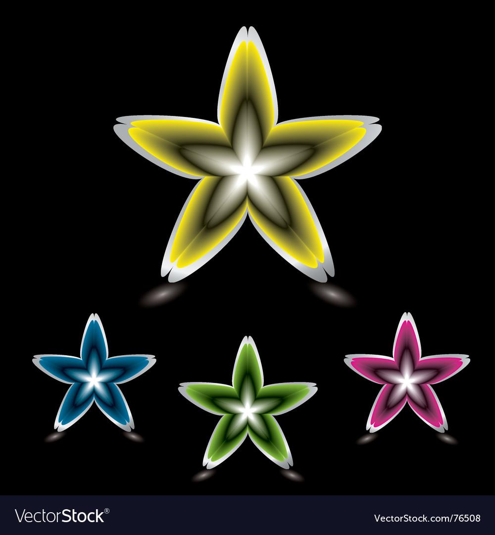 Star flower icon black vector   Price: 1 Credit (USD $1)