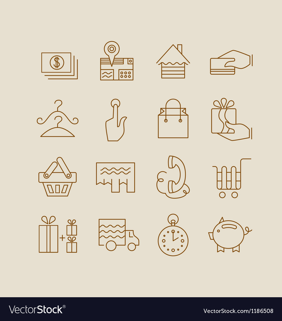Store icons vector | Price: 1 Credit (USD $1)