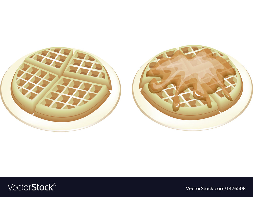 Tradition round waffles vector | Price: 1 Credit (USD $1)
