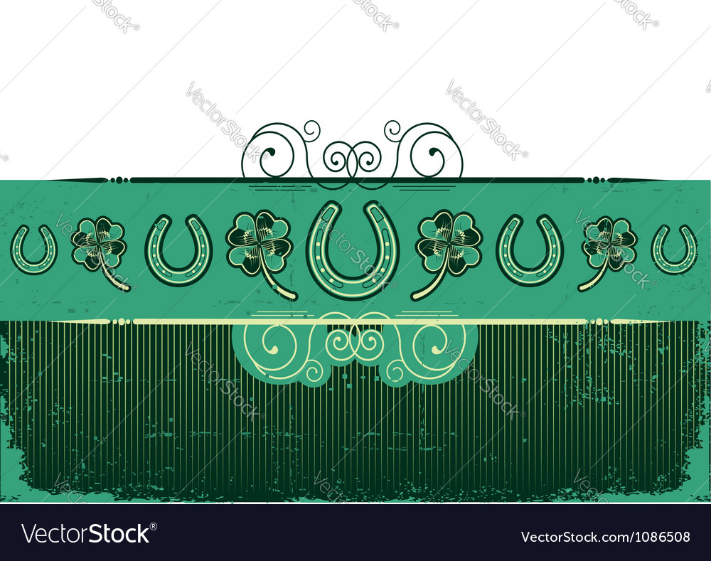 Vintage st patricks day abstract background with vector | Price: 1 Credit (USD $1)