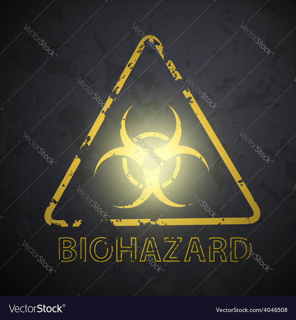 Wall with a picture of the biohazard symbol vector | Price: 1 Credit (USD $1)