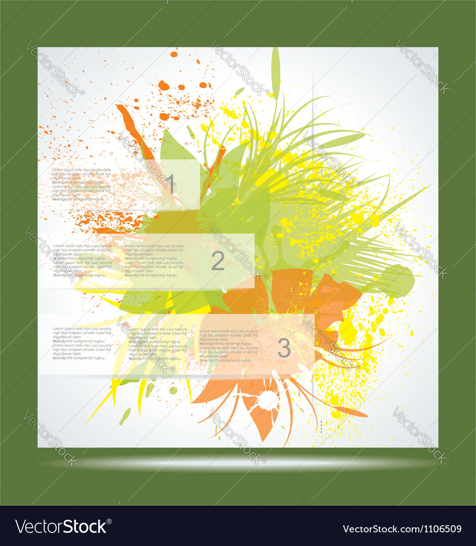 Brochure layout design template green abstract vector | Price: 1 Credit (USD $1)