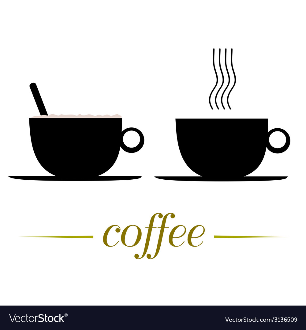 Cup of coffee on a white vector | Price: 1 Credit (USD $1)