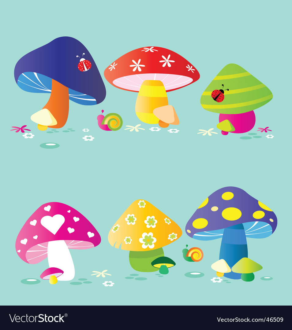 Mushrooms vector | Price:  Credit (USD $)